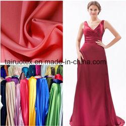 96% polyester 4% Spandex Stretch Satin pour tissu du vêtement