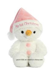 Juguete de peluche mascota de dibujos animados suave decoración de Navidad muñeco de nieve Toy