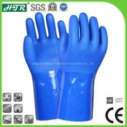 Phthalate-Free recubierto de PVC resistente a productos químicos Seguridad Industrial Guantes de trabajo con revestimiento de algodón sin fisuras