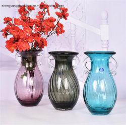 Jarro de vidro artesanais elegante vaso de flores de vidro para decoração