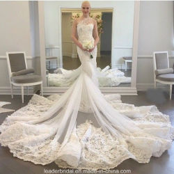 Платья венчания Z2020 плеча мантий одного роскошного Mermaid Bridal