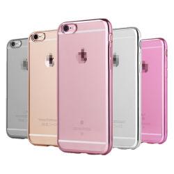 Tampa da Caixa TPU de pele de gel de silicone macio para iPhone 6s6