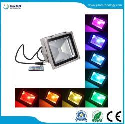 30W IP65 RGB 조종기 LED 실외용 투광등