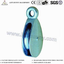 Singola puleggia della carrucola con la rotella d'acciaio/occhio rigido