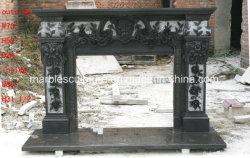 С другой стороны из природного камня Карвинг черный мраморный камин (Си-MF295)