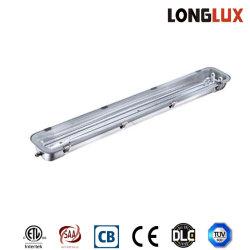 2*58W 1600mm em aço inoxidável luminária de luz fluorescente/tubo de LED