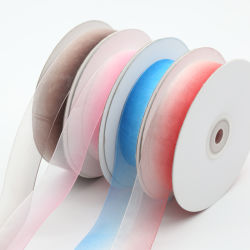 2cm coloré Gradient pure Rainbow ORGANZA RIBBON