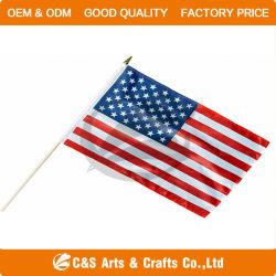 Vlag/Banner van de Hand van de Polyester van de Reclame van de douane de de Nationale