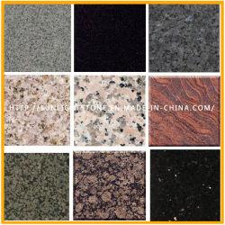 磨かれた自然な建築材料はまたは白くか黒くまたは灰色または黄色または赤いですまたはピンクG682/G654/G603/G664/G687/G439/G562かタイルのためのブラウンまたはベージュか緑の石造りの花こう岩炎にあてるか、または砥石で研いだ、