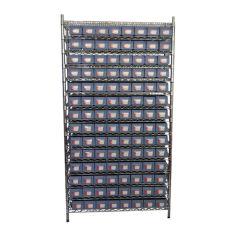 Prateleiras de fio de metal para compartimentos de armazenamento de prateleiras