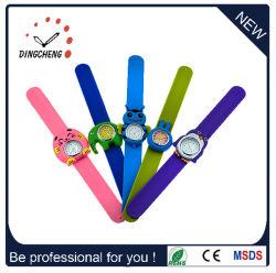 아이 또는 아이들 연소한 실리콘 아이 철석 때림 시계 재미있은 스냅 아이 손목 고무 시계 만화 시계
