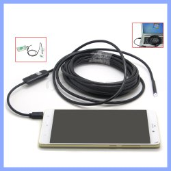 5,5 mm Ultra Slim Smartphone Android USB caméra d'inspection de l'endoscope étanches IP67 endoscope Micro USB OTG