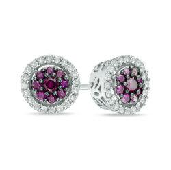 925 Sterling Silver Earrings les goujons de l'oreille couleur Multy CZ peut choisir