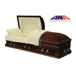 Funérailles Casketand cercueils en bois de cerisier solide