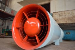 Hochleistungs1 Kilowatt-Gasturbine-Trommel der Zentrifuge, die industriellen Absaugventilator für Dampfkessel galvanisiert