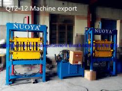 Qt2-12 hueco máquina de ladrillos de cemento hidráulico manual máquina de formación de bloque