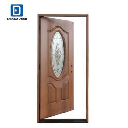 Двери из стекловолокна Fangda установить деревянные рамы