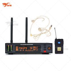 ATX100/Wh93 UHF 직업적인 헤드폰 디지털 무선 마이크