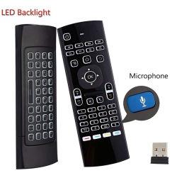 2 옆 Mx3 2.4G 무선 공기 비행거리 Mouse+WiFi에 소형 PC/지능적인 텔레비젼 상자를 위해 원격 제어 IR