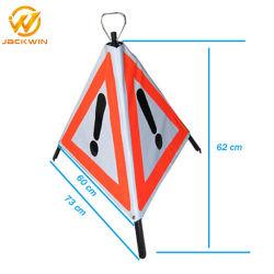 Segnale stradale d'avvertimento riflettente di riflessione pieghevole galvanizzato del segno di sicurezza stradale del segnale di pericolo del treppiedi