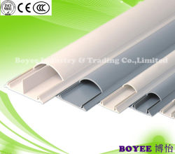Cableado eléctrico del conducto de la Ronda de PVC ranurado de plástico de Trunking Cable piso