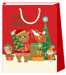 Full Colour Printing Kerst Design Paper Cadeautas