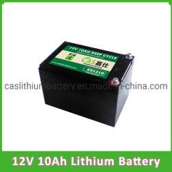 Pack de batterie 12V 10Ah Batterie LiFePO4 pour la lumière solaire