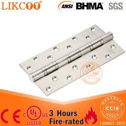Hardware de la puerta de Hardware certificado UL Stainelss mobiliario pesado de acero Puerta Bisagra para puertas cortafuego (SS047)