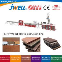 Jwell - WPC (PET Pp.) Hölzernes Plastikfußboden-Profil, welches die landwirtschaftliche bildenstrangpresßling-Maschine verwendet in den Innen- oder im Freienfußboden-Geländern aufbereitet Tellersegment-Dekoration