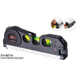 Medidor láser de precisión de 2 líneas de la cruz de cinta Vertical Horizon cinta de medir la cinta de medir el nivel láser