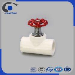 Standard PPR plástico da válvula de paragem para tubos de abastecimento de água