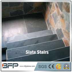 Chinese ardoise noire sur une surface plate pour les escaliers et les étapes dans la décoration intérieure