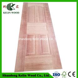 メラミンまたは自然な木製のベニヤFace&Backが付いている3.0mmのドアの皮