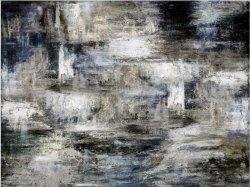 Grande rivière de minuit toile peinte à la main Wall Art Moderne de la peinture d'huile décor contemporain Artwork (30X 40 pouces) GF-P190527115