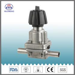 Aço inoxidável sanitárias SS304/SS316L da Válvula de diafragma soldadas &Válvula de Aço Inoxidável