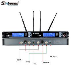 Microfoon van de Microfoon Skm9000 van de Revers van Sinbosen de Draadloze Handbediende UHF Professionele Draadloze