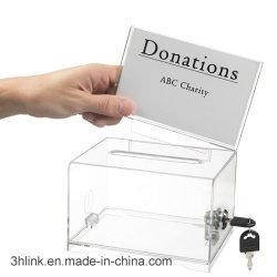 투명한 아크릴 기증 박스 명함 상자 투표함 사용자 지정