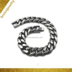 Braccialetto dei monili della lega placcato oro puro su ordinazione della catena a maglia del bordo di stile di Hip Hop dei monili di modo per gli uomini