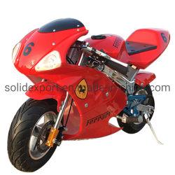 合金の容易な引きの開始またはボタンの電気開始を用いる単一シリンダー2打撃49ccの小型オートバイ