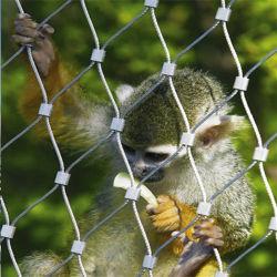 ステンレス鋼の動物園のケージの鳥の飼鳥園の網か動物園の網ロープのネット