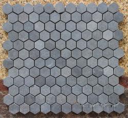La Chine gris basalte de pierre de basalte Mosaïque/Ardoise/shell/granit/verre/travertin/Limstone/ Stone tuile mosaïque de marbre