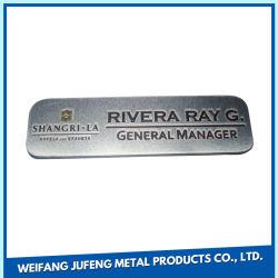 Faible MOQ OEM de personnaliser l'Estampage bronze/laiton/aluminium/acier gravée en métal nom Tag insignes