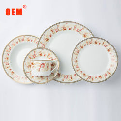 Porcellana poco costosa dell'insieme di pranzo degli articoli 20PCS della Tabella di prezzi di alta qualità