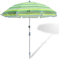 7 FT Wholesale Regenbogen-multi Farben-Patio-Wind-Luftauslass-Strand-Regenschirm