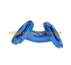 Conexiones del tubo de hierro dúctil/inclinación de 90° de la brida suelta DN300
