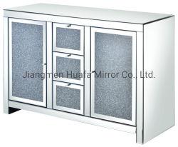 Silberner Diamant widergespiegelter Möbel-Kristallbrust-Schrank für Wohnzimmer