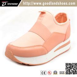 Personnaliser le plus récent du caisson de nettoyage des femmes Sneakers Walking sport chaussures running Bande élastique Style (EXI-9157)