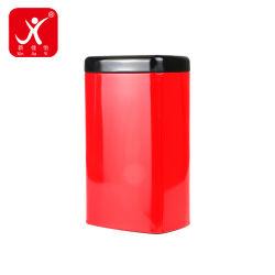 Barattoli di latta rossi di rettangolo della pillola molto piccola delle mente della spezia del contenitore di metallo con del coperchio della fabbrica le casse nere dello stagno del commestibile di vendita direttamente