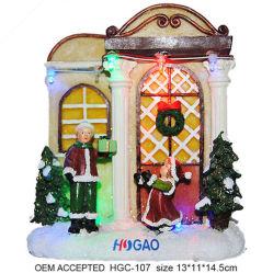 LED 크리스마스 빌리지 하우스 장식 조명