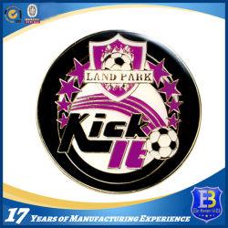 柔らかいエナメルおよびエポキシ(Ele-C053)が付いているフットボールの昇進の硬貨